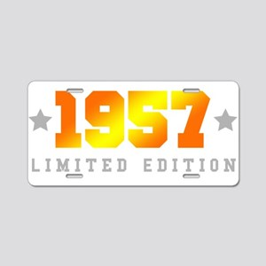 Limited Edition 1957 Birthday Aluminum License Pla