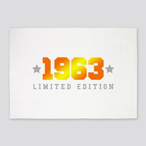 Limited Edition 1963 Birthday 5'x7'Area Rug