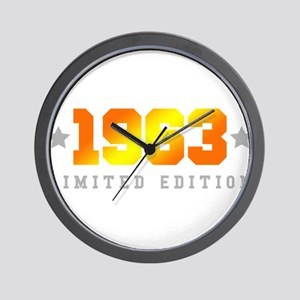 Limited Edition 1963 Birthday Wall Clock