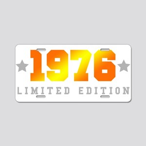 Limited Edition 1976 Birthday Aluminum License Pla