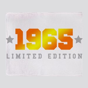 Limited Edition 1965 Birthday Throw Blanket