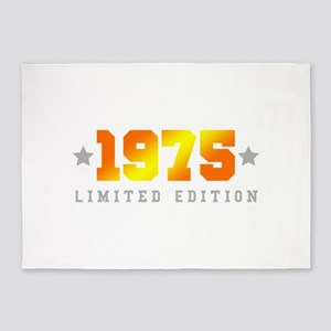 Limited Edition 1975 Birthday 5'x7'Area Rug