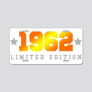 Limited Edition 1962 Birthday Aluminum License Pla