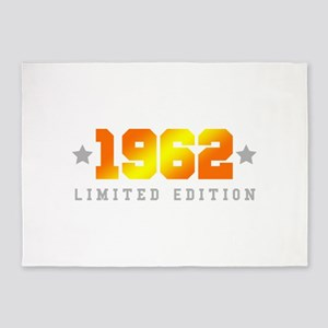 Limited Edition 1962 Birthday 5'x7'Area Rug