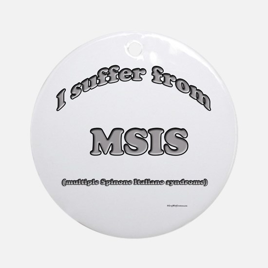 Spinone Syndrome Ornament (Round)
