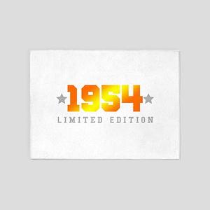 Limited Edition 1954 Birthday 5'x7'Area Rug