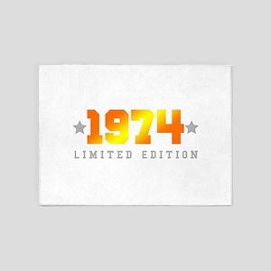 Limited Edition 1974 Birthday 5'x7'Area Rug