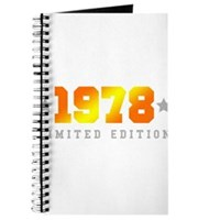 Limited Edition 1978 Birthday Journal