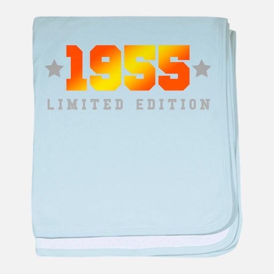 Limited Edition 1955 Birthday baby blanket