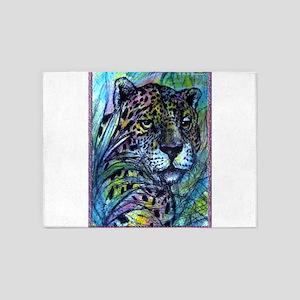 Leopard! Cat! Wildlife art! 5'x7'Area Rug