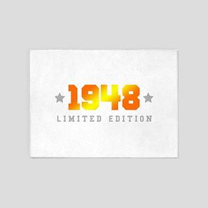 Limited Edition 1948 Birthday 5'x7'Area Rug