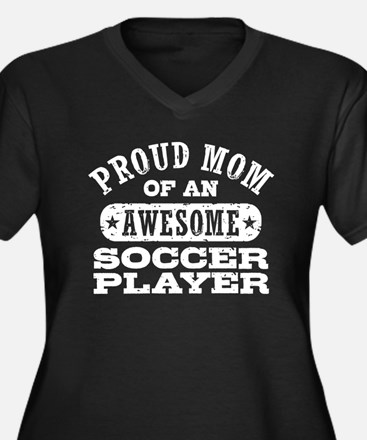 Soccer Mom Women's Plus Size V-Neck Dark T-Shirt
