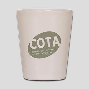 COTA-egg-green Shot Glass