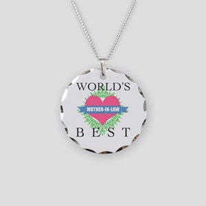 World's Best Mother-In-Law Necklace Circle Charm