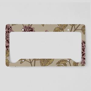 Vintage Dahlia Pattern License Plate Holder