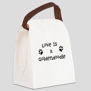 Love Goldendoodle Canvas Lunch Bag