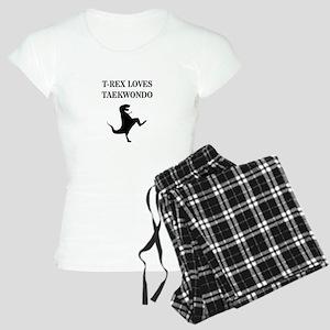 T-Rex Loves Taekwondo  Women's Light Pajamas