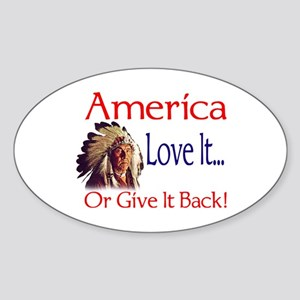 America Oval Sticker