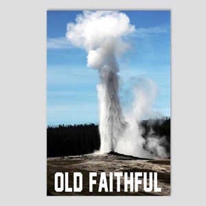 Old Faithful Postcards (Package of 8)
