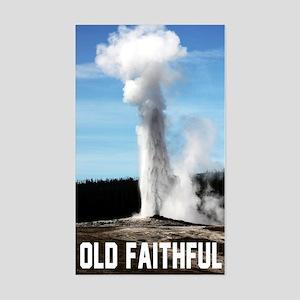 Old Faithful Sticker (Rectangle)
