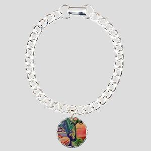 Peacock World Charm Bracelet, One Charm