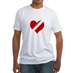 'Heartless Valentine' Fitted T-Shirt
