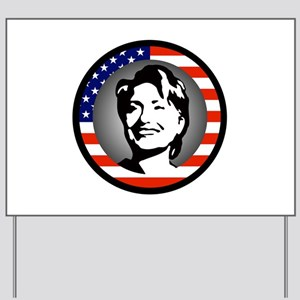 stars and stripes hillary clinton Yard Sign
