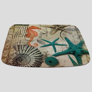 french beach sea shells Bathmat