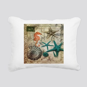 french beach sea shells Rectangular Canvas Pillow