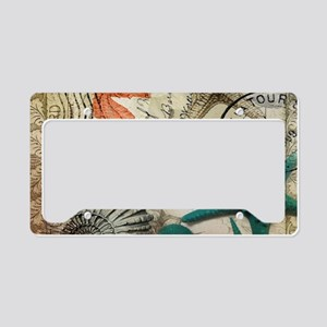 french beach sea shells License Plate Holder
