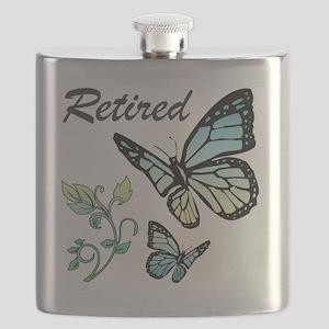 Retired w/ Butterflies Flask