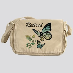 Retired w/ Butterflies Messenger Bag