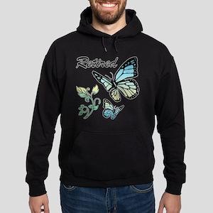 Retired w/ Butterflies Hoodie (dark)