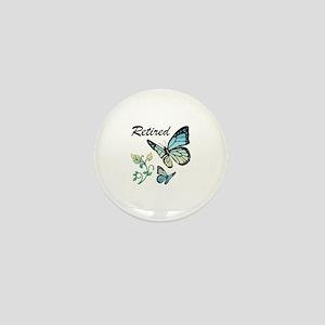 Retired w/ Butterflies Mini Button