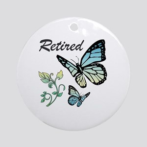 Retired w/ Butterflies Round Ornament