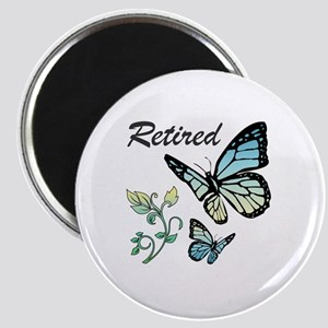 Retired w/ Butterflies Magnet