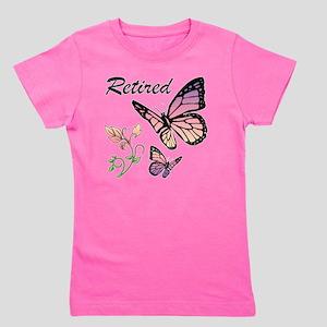 Retired w/ Butterflies Girl's Tee