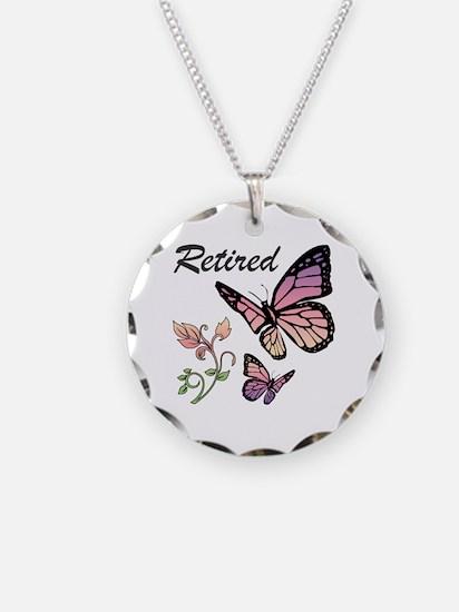 Retired w/ Butterflies Necklace