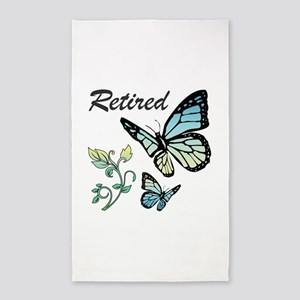 Retired w/ Butterflies Area Rug