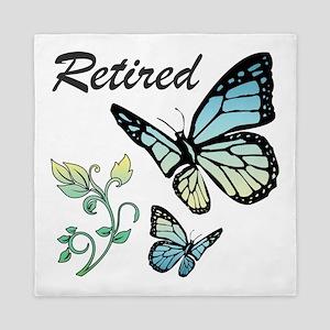 Retired w/ Butterflies Queen Duvet
