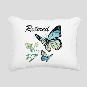 Retired w/ Butterflies Rectangular Canvas Pillow
