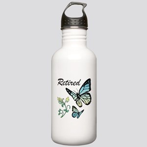 Retired w/ Butterflies Stainless Water Bottle 1.0L