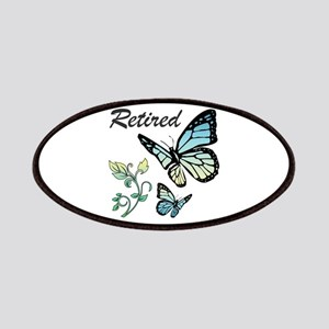 Retired w/ Butterflies Patch