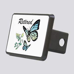 Retired w/ Butterflies Rectangular Hitch Cover
