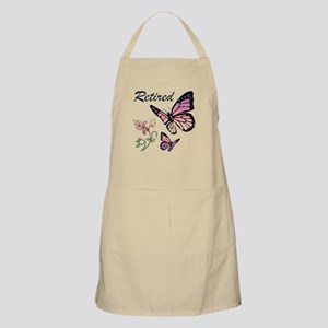 Retired w/ Butterflies Apron