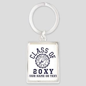 Class of 20?? Track Portrait Keychain