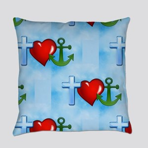 jesus anchor Everyday Pillow