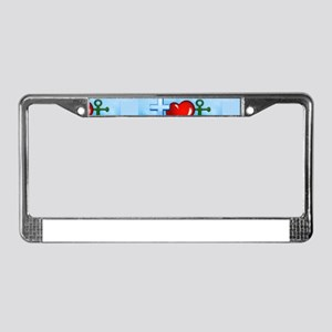 jesus anchor License Plate Frame
