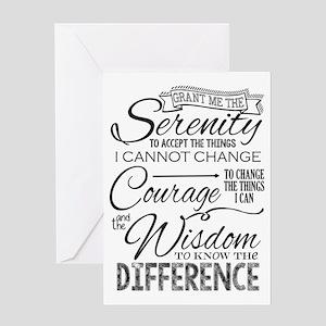 Serenity Prayer (chalk Text) Greeting Cards