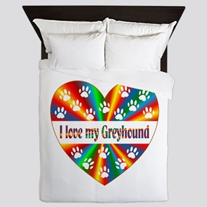 Greyhound Love Queen Duvet